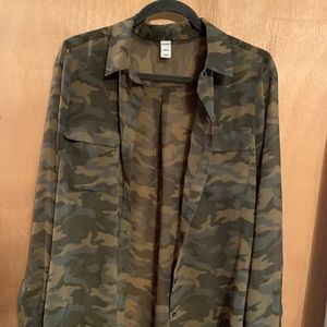 Camouflage Blouse by Old Navy-Size Medium